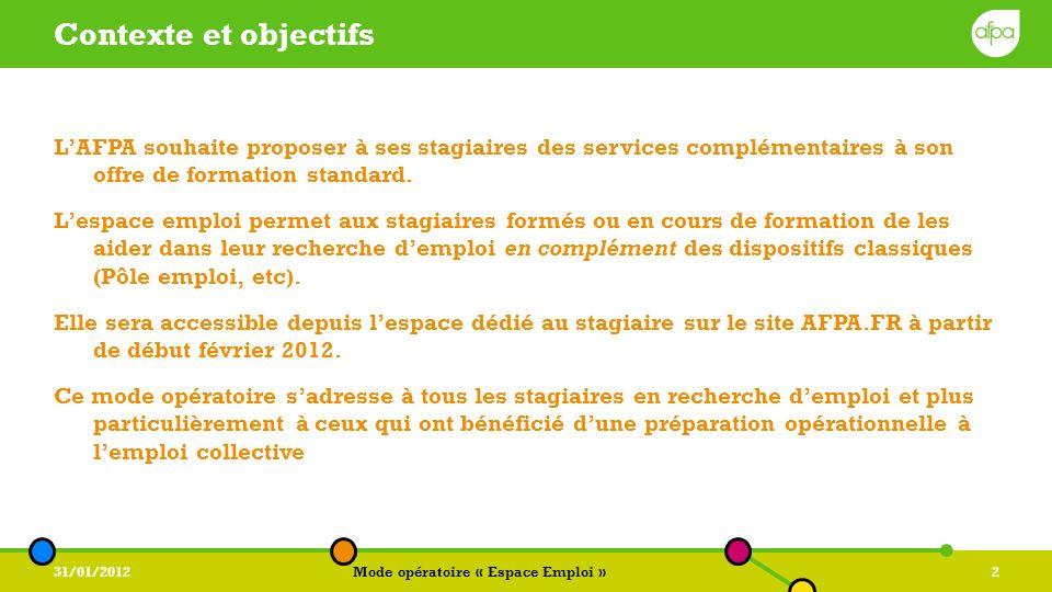 Contexte Et Objectifs L Afpa Souhaite Proposer à Ses