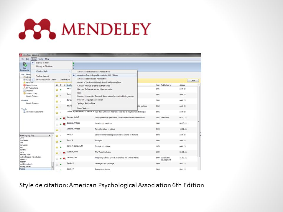 The American Psychological Association (APA) Referencing System