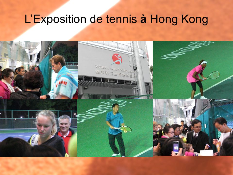L'Exposition de tennis à Hong Kong