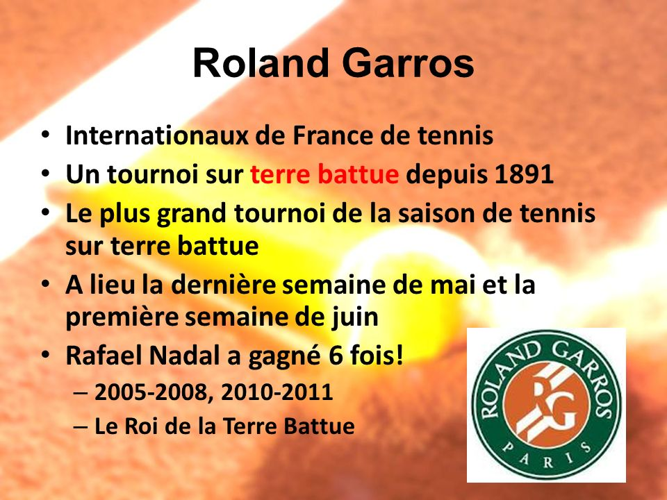 Roland Garros Internationaux de France de tennis