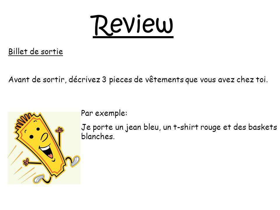 Review Billet de sortie