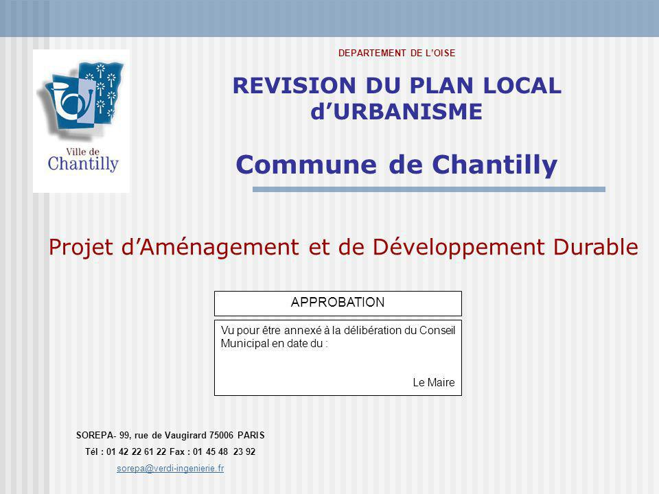 Commune de Chantilly REVISION DU PLAN LOCAL d'URBANISME