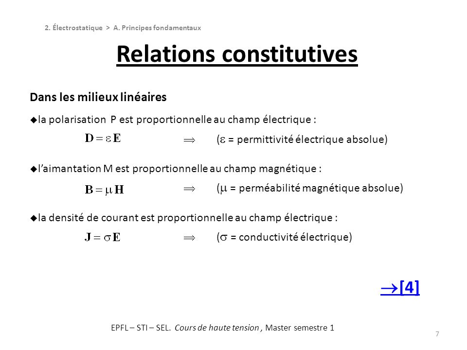 Relations constitutives