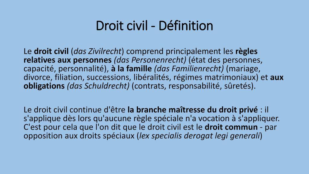 Introduction Au Droit Francais Droit Civil Ppt Video