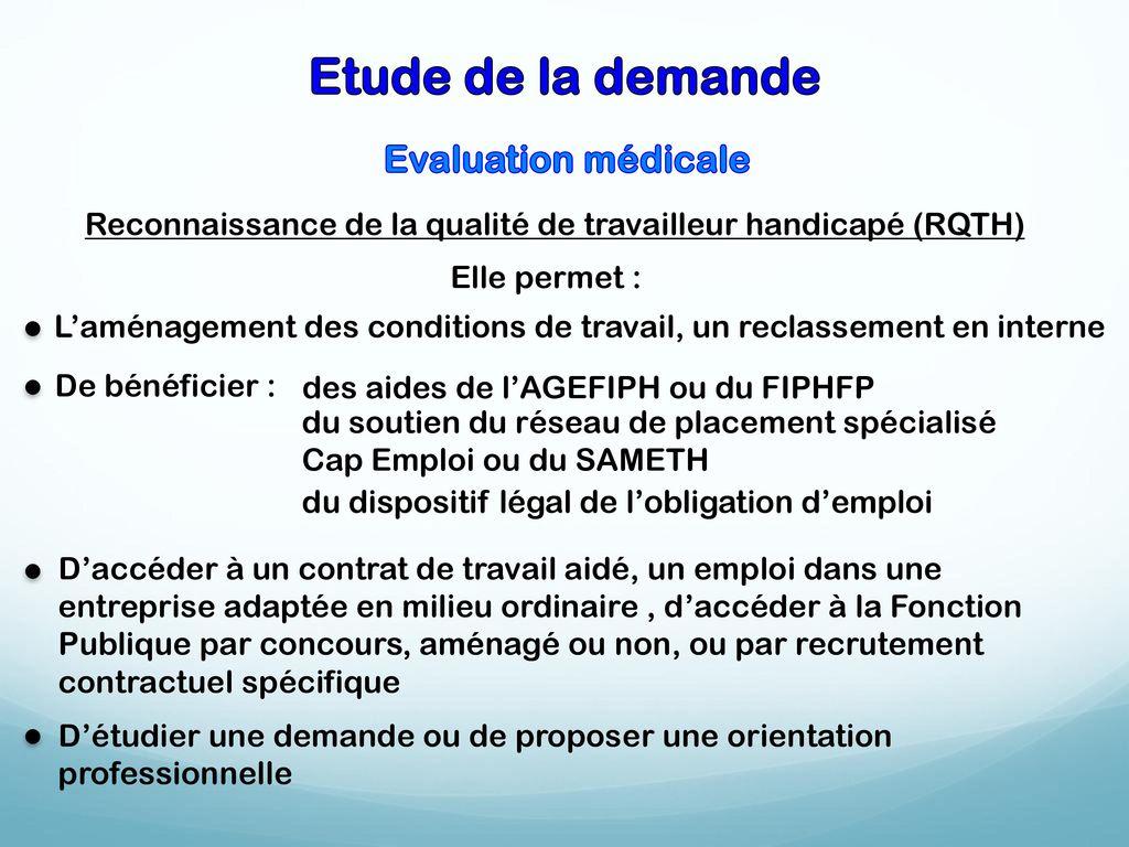 Role De La Mdph Dans Le Parcours De Reinsertion Professionnelle Des