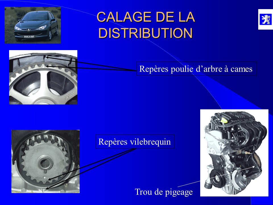 CALAGE DE LA DISTRIBUTION