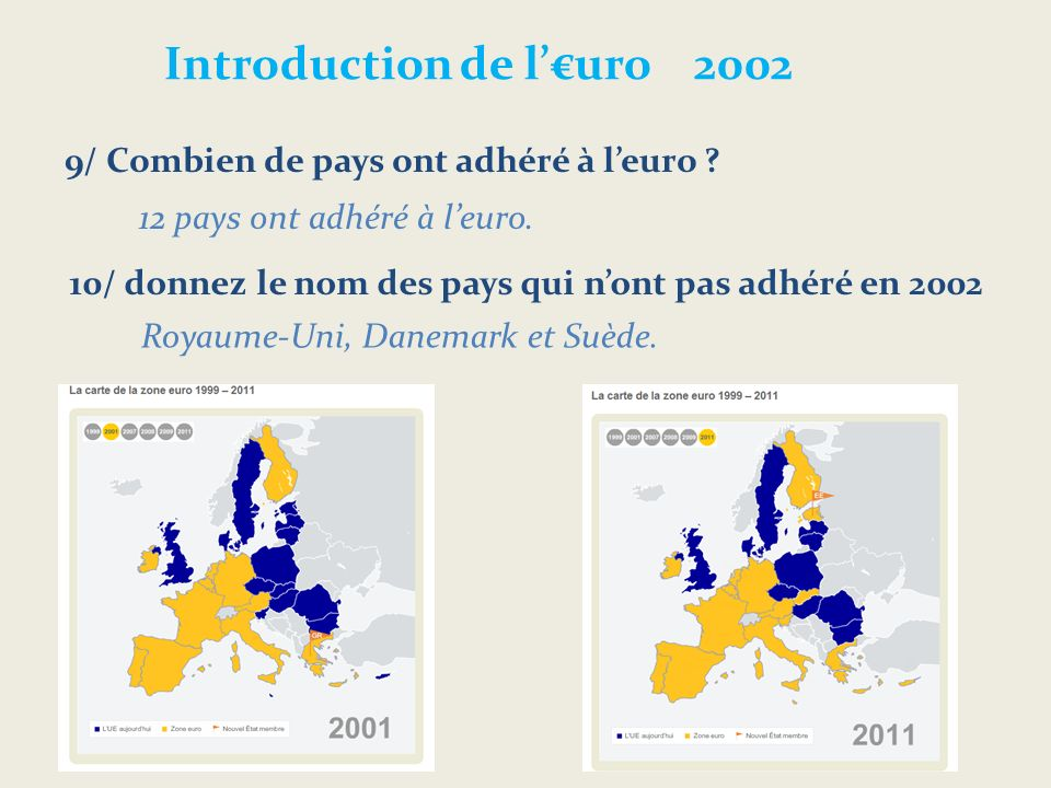 Introduction de l'€uro 2002