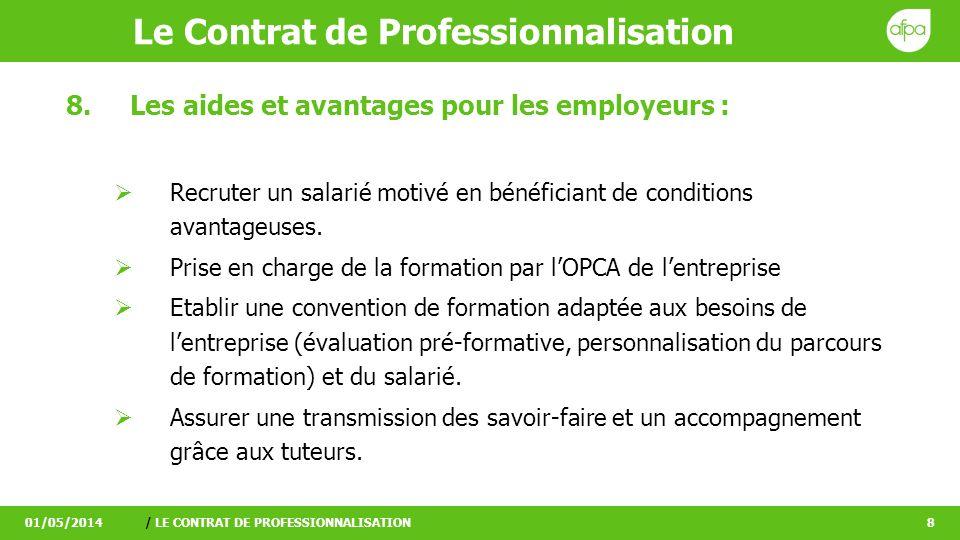 Les Avantages Du Contrat De Professionnalisation Pour Le Salarie