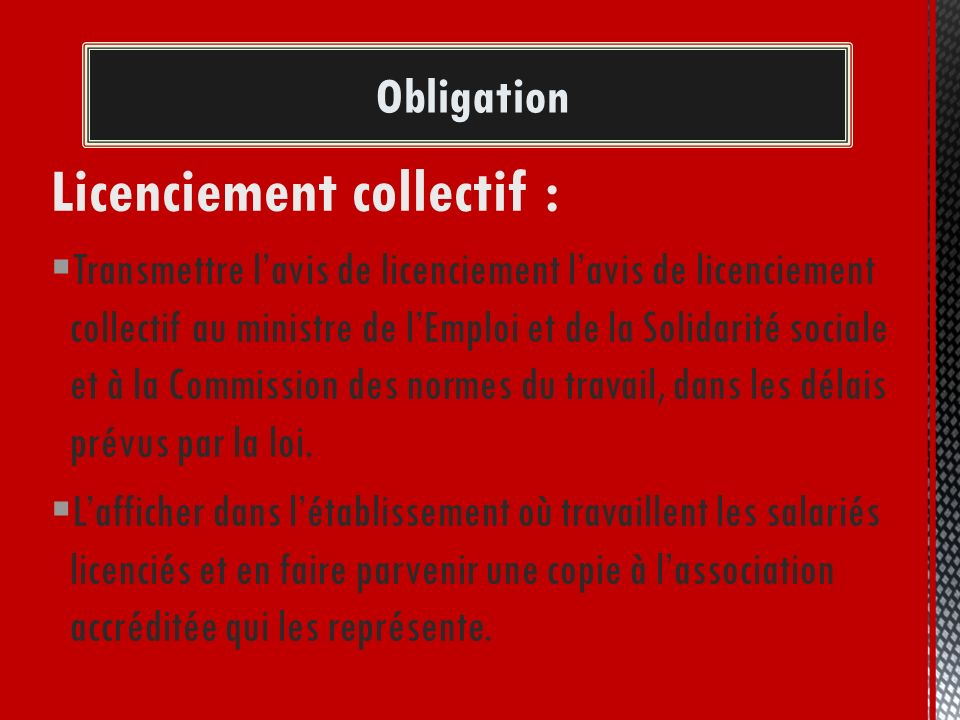 Licenciement collectif :