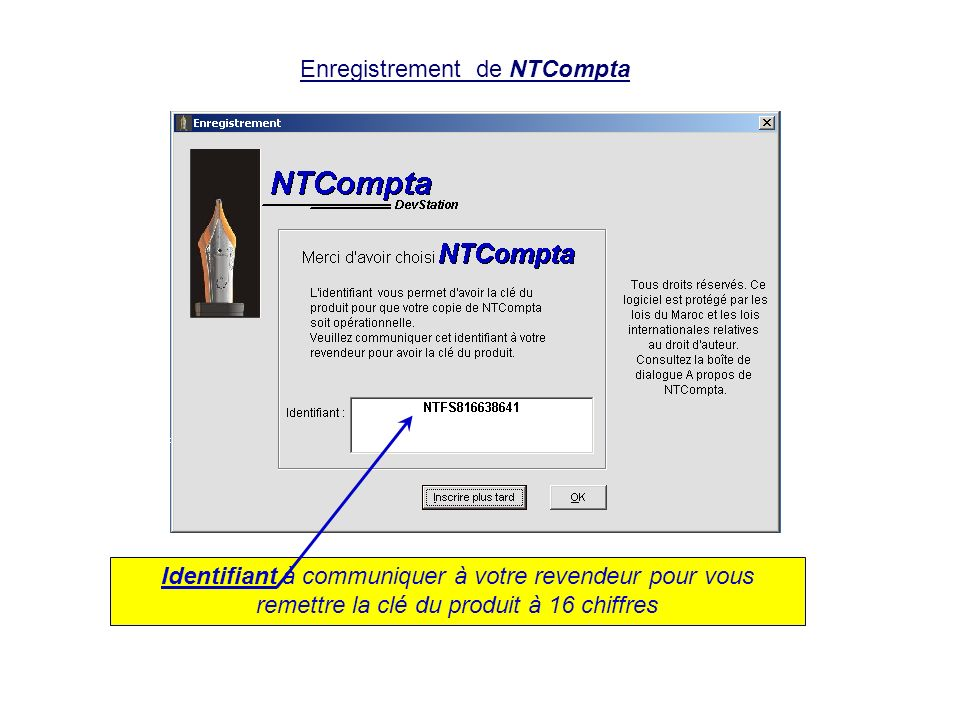 Enregistrement de NTCompta