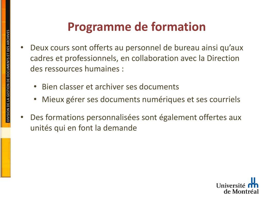la division de la gestion de documents et des archives - ppt télécharger
