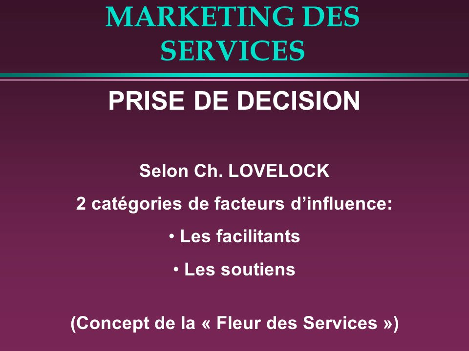 Marketing Des Services Ppt Telecharger