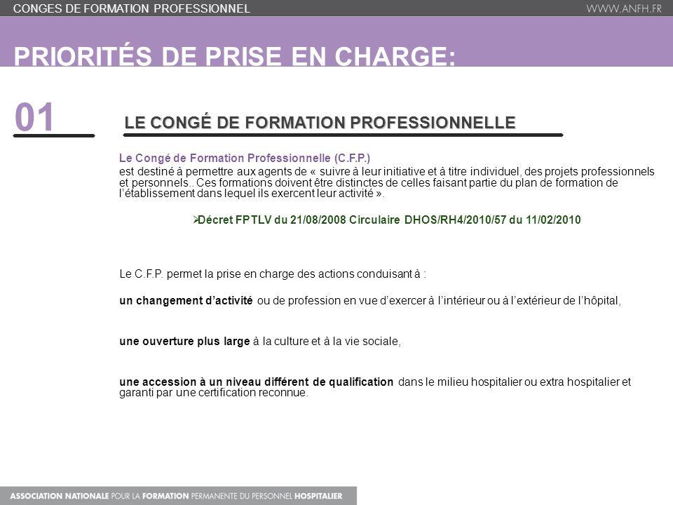 506f3d8ce69 2 Priorités de prise en charge  CFP- BILAN DE COMPETENCE-VAE Conges de Formation  Professionnel ...