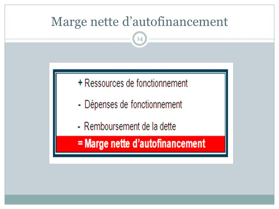 Marge nette d'autofinancement