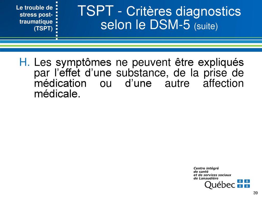 Rencontre quelqu'un avec des symptômes de SSPT
