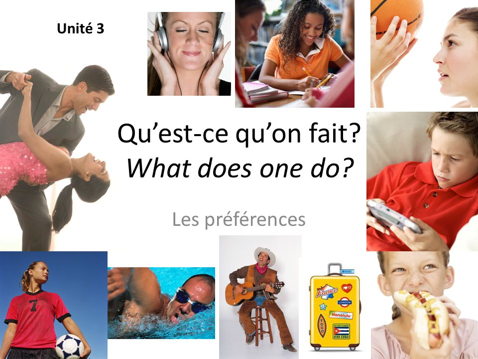 Qu'est-ce qu'on fait What does one do