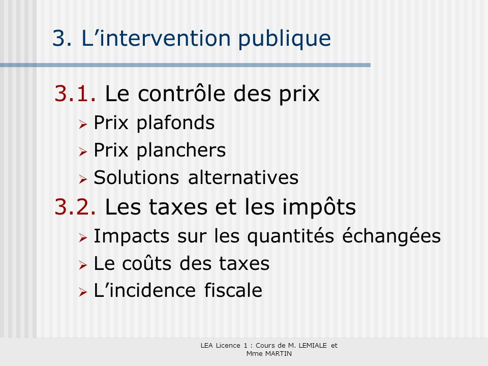 3. L'intervention publique