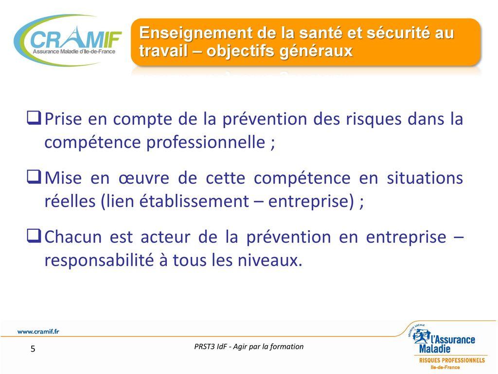Developper Une Culture De Prevention Agir Par La Formation Ppt