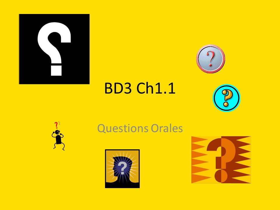 BD3 Ch1.1 Questions Orales