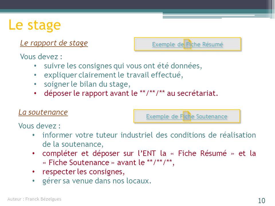 Le Stage Un Projet Personnel Ppt Télécharger