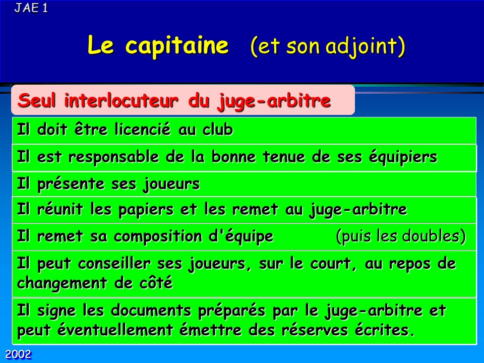 Le capitaine (et son adjoint)