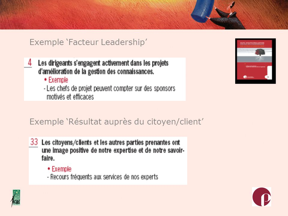 Exemple 'Facteur Leadership'