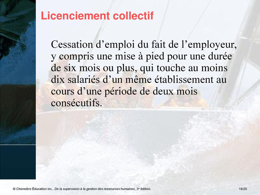 Licenciement collectif