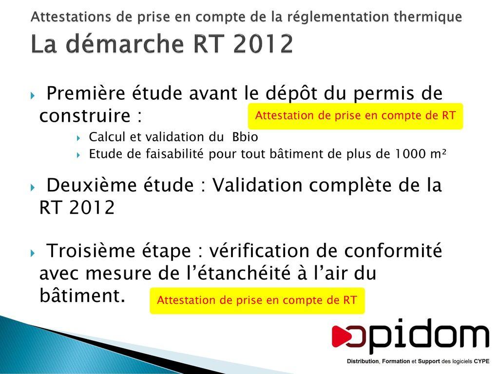 Rt2012 Les Documents A Joindre Au Depot Du Permis De Construire