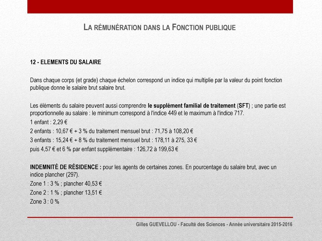 2764094cbbe La Rémunération dans la Fonction publique - ppt télécharger