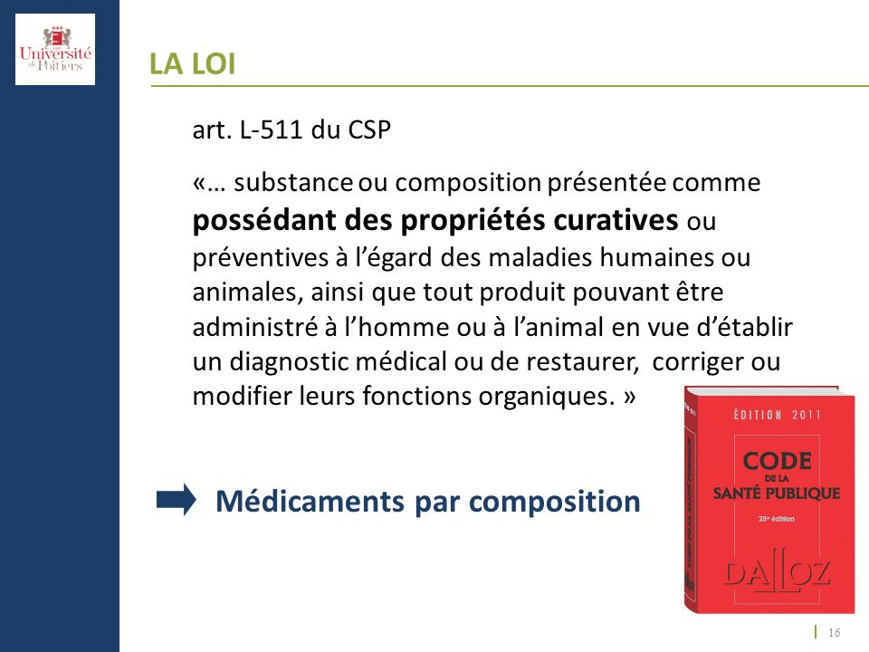 Médicaments par composition