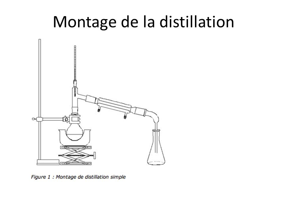 Montage de la distillation