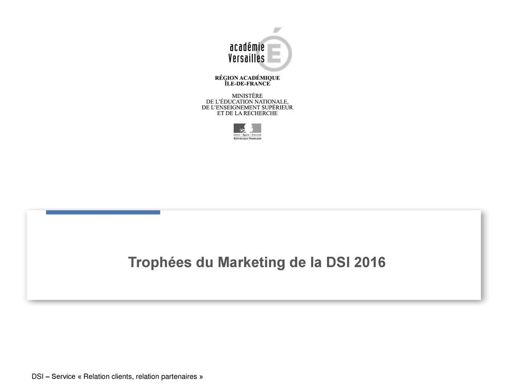 Trophées du Marketing de la DSI 2016