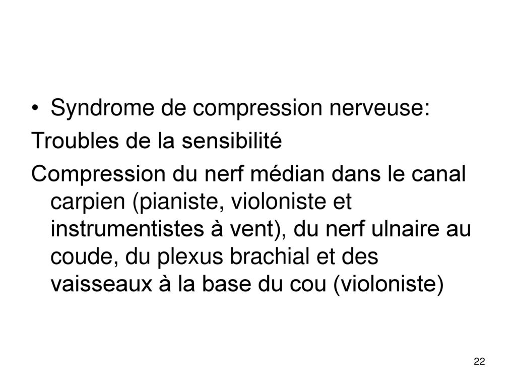 Syndrome de compression nerveuse: