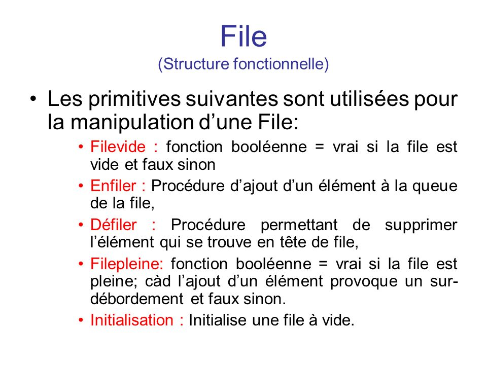 File (Structure fonctionnelle)