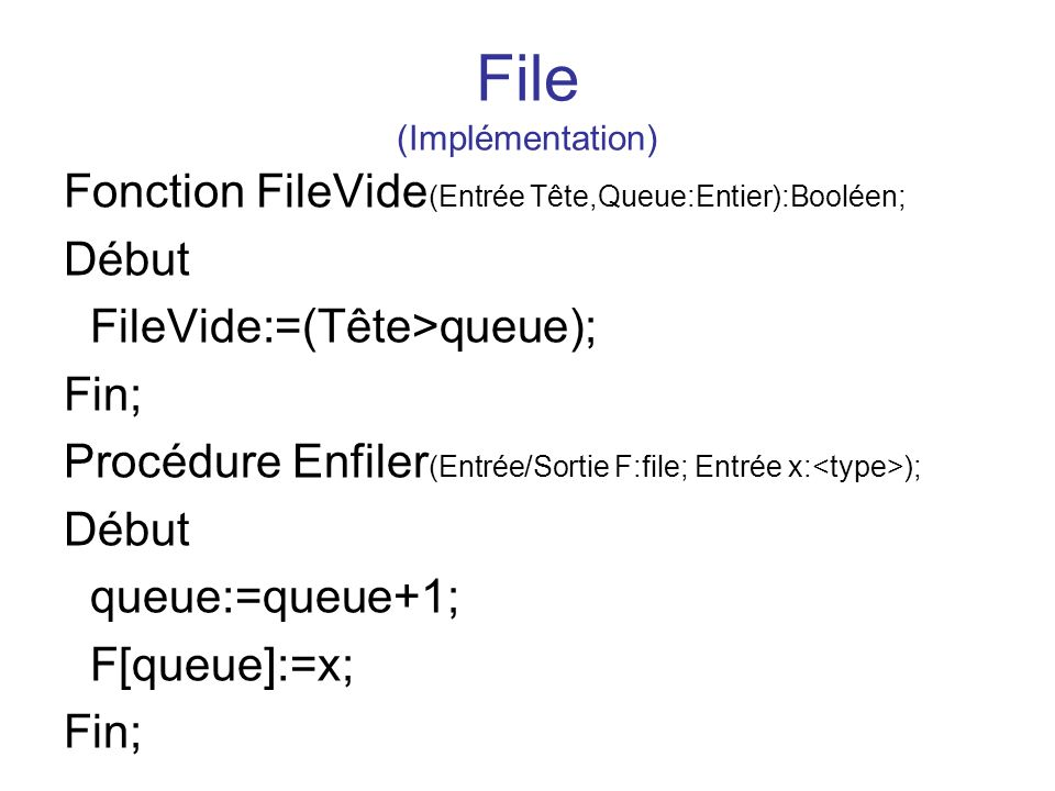 File (Implémentation)