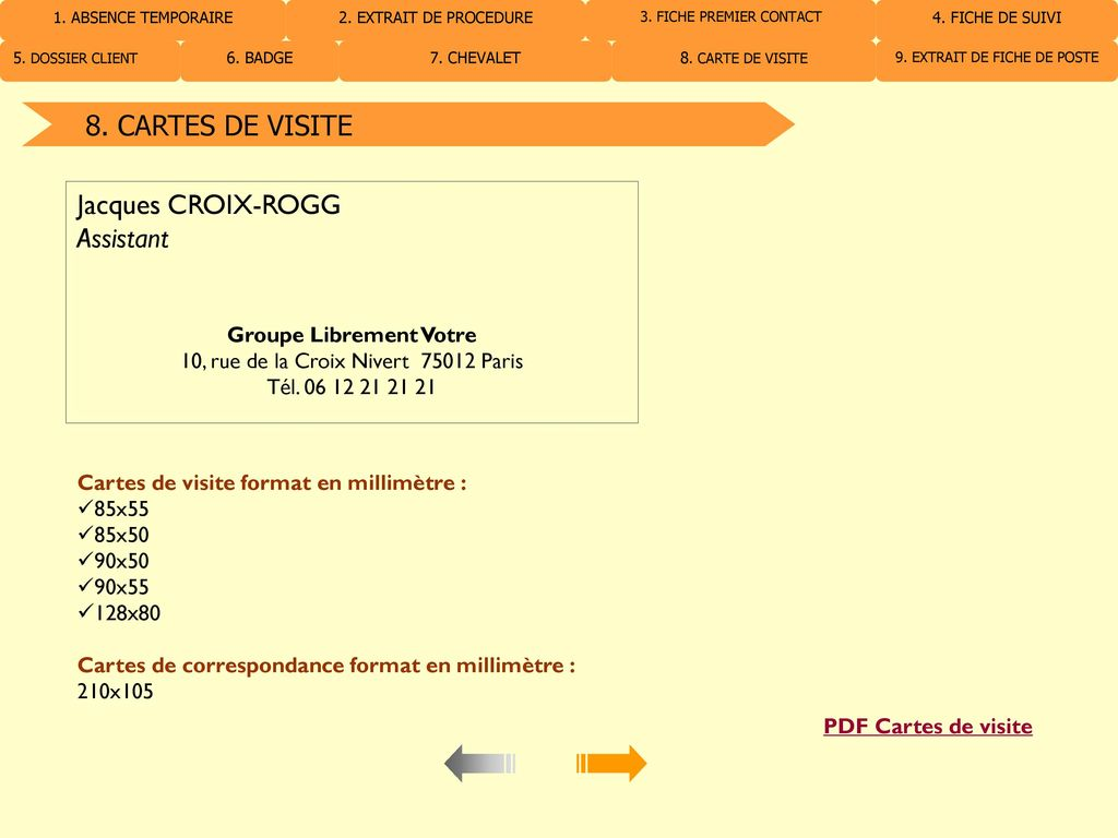 CARTES DE VISITE Jacques CROIX ROGG Assistant PDF Cartes De Visite