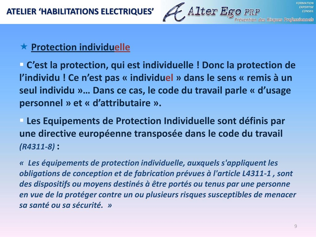 EQUIPEMENTS DE PROTECTION INDIVIDUELLE  - ppt télécharger 29a4e8a398bb