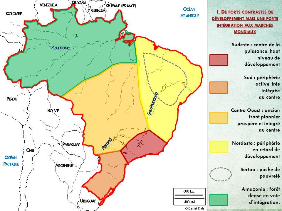 Carte Bresil Sertao.Organisation Et Dynamiques Territoriales Du Bresil Ppt