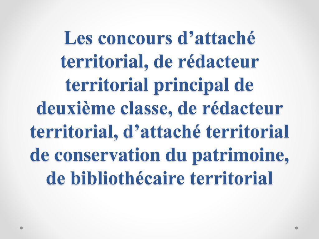 18e57199a53 1 Les concours d attaché territorial