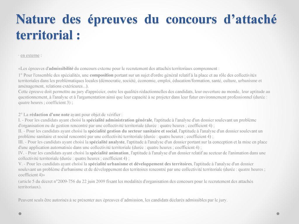 50cc1d2d2ba Nature des épreuves du concours d attaché territorial
