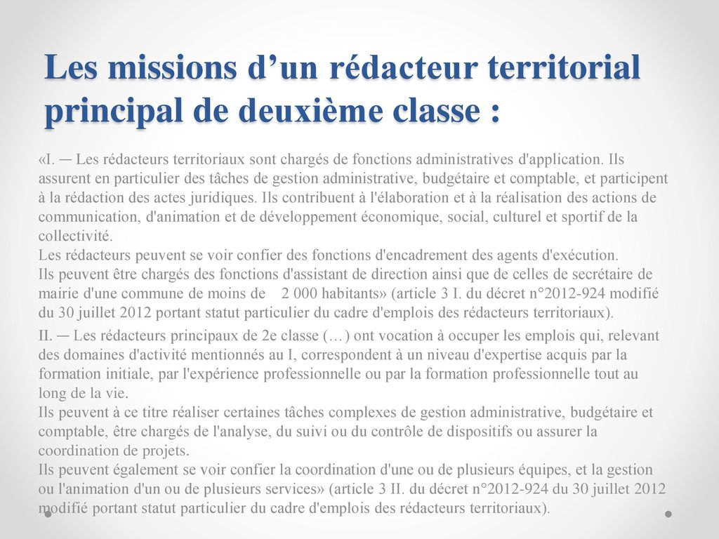 8fc790df7ce Les missions d un rédacteur territorial principal de deuxième classe