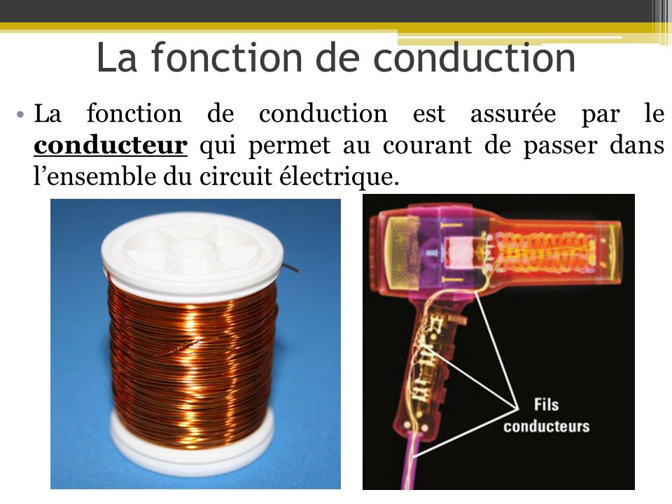 La fonction de conduction