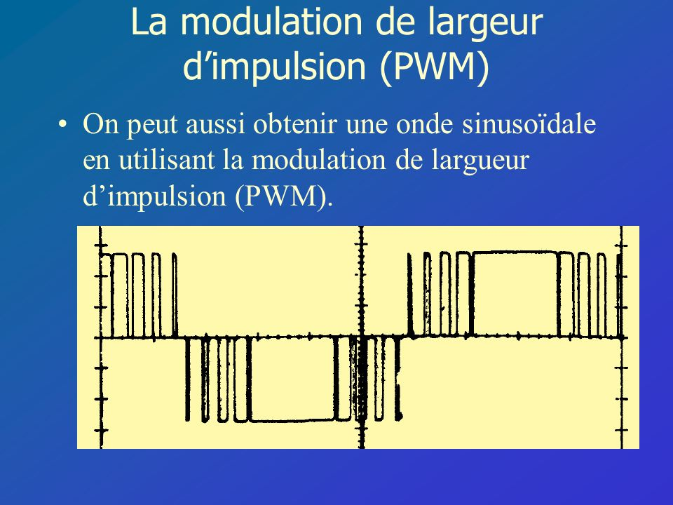 La modulation de largeur d'impulsion (PWM)