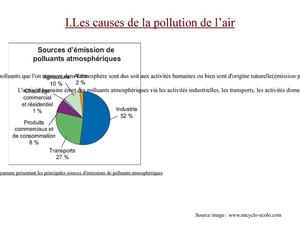 I.Les causes de la pollution de l'air