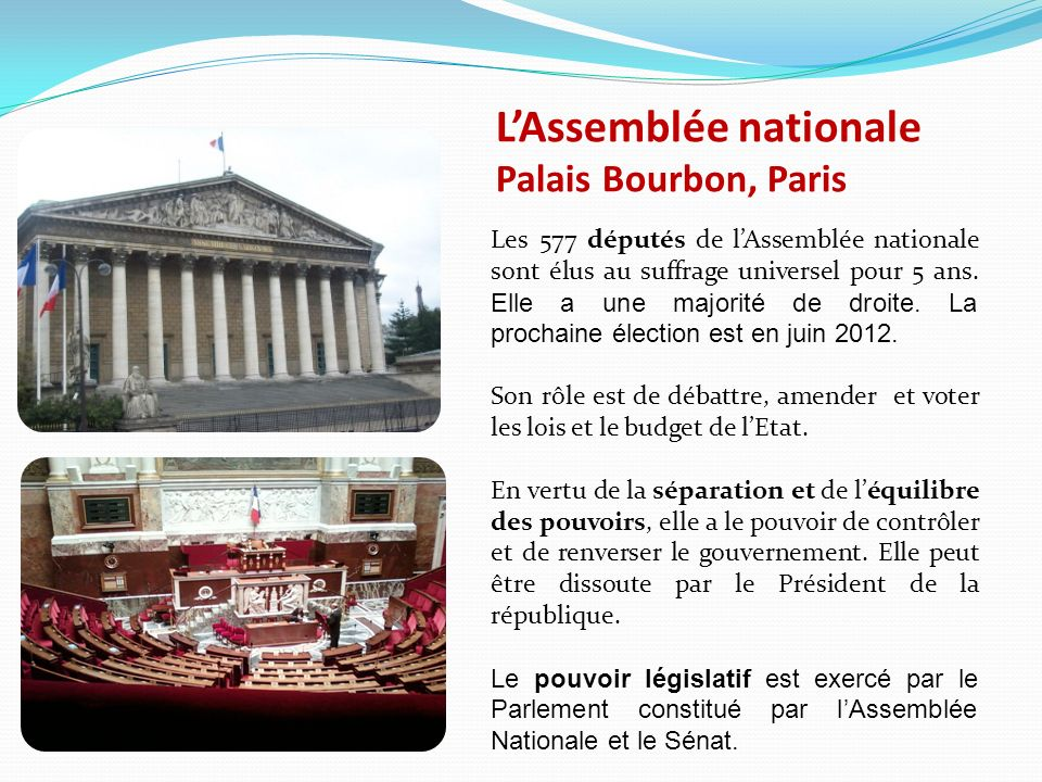 L'Assemblée nationale Palais Bourbon, Paris