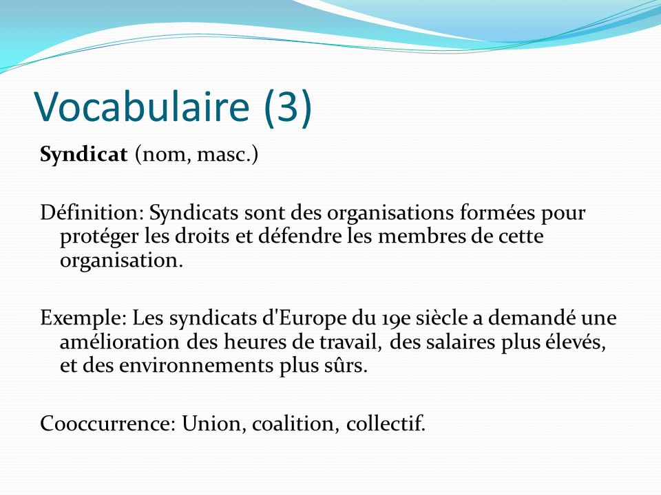 Vocabulaire (3)