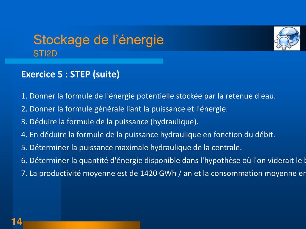 Exercice 5 : STEP (suite)