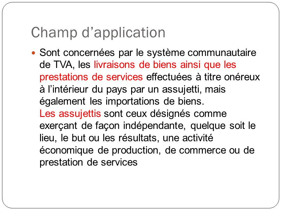Tva Intracommunautaire Ppt Video Online Telecharger