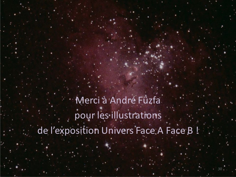 Merci à André Füzfa pour les illustrations de l'exposition Univers Face A Face B !