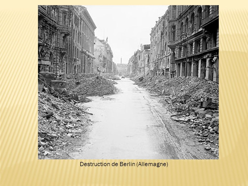 Destruction de Berlin (Allemagne)